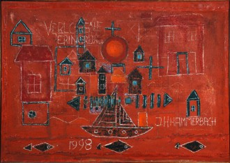 Hannes H. Hammerbach, Die verlegene Erinnerung, 1999 (110 x 70 cm)