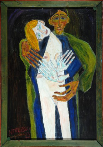 Hannes H. Hammerbach, Umarmung, 1977 (100 x 70 cm)