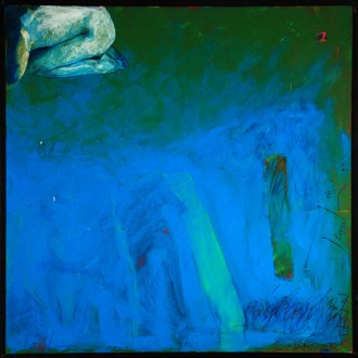 Christian Marmorstein, Frau im Eck, 1989 (99 x 99 cm)
